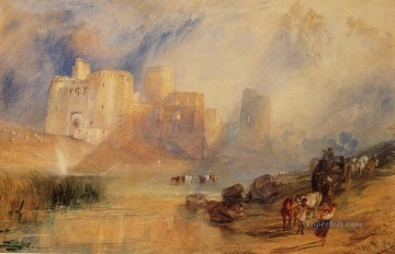 Kidwelly Castle Romantic Turner Oil Paintings